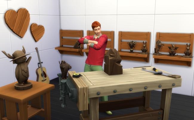 L'Ébénisterie dans les Sims 4 & Destination Nature !