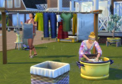 Les nouveautés du Kit d'Objets Les Sims 4 Jour de lessive : le Gameplay !