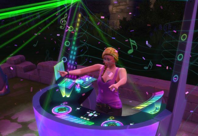 Les Sims 4 Vivre Ensemble : La compétence DJ