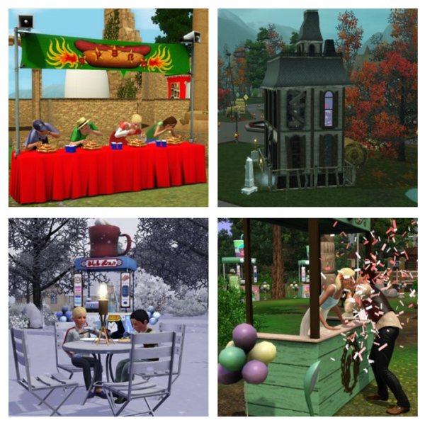 Les Sims 3 Saisons : Les lieux de festivals ! | Daily Sims