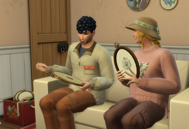 Les Sims 4 Vie à la campagne : La compétence Point de croix, tous les modèles et plus !